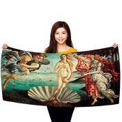 """Botticelli's """"The Birth of Venus"""" 80cm x 150cm Beach Towel"""