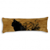 Veronicaca Black Cat Custom Cotton Body Pillow Covers Pillow Cases 50cm x 140cm