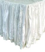 Edie 0725T18 Silkanza Balloon Decorative Bed Skirt, White, 39 x 190cm x 46cm Drop