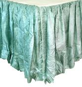 Edie 0725Q21 Silkanza Balloon Decorative Bed Skirt, Seafoam, 60 x 200cm x 50cm Drop