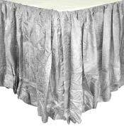 Edie 0725K21 Silkanza Balloon Decorative Bed Skirt, Grey, 78 x 200cm x 50cm Drop