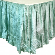 Edie 0725K18 Silkanza Balloon Decorative Bed Skirt, Seafoam, 78 x 200cm x 46cm Drop