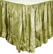 Edie 0725K18 Silkanza Balloon Decorative Bed Skirt, Sage, 78 x 200cm x 46cm Drop