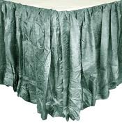 Edie 0725K18 Silkanza Balloon Decorative Bed Skirt, Mineral, 78 x 200cm x 46cm Drop
