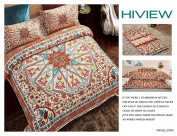 LA MEJOR Queen Size Microfiber Retro Bohemia Exotic Patterns Duvet Cover Sets Orange