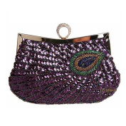 SNUG STAR Women's Unique Luxury Sequins Beaded Evening Bag Wedding Bridal Party Prom Clutch tote Handbag
