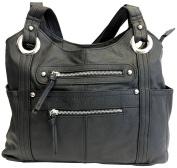 Leather Locking Concealment Purse - CCW Concealed Carry Gun Shoulder Bag