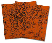 WraptorSkinz Vinyl Craft Cutter Designer 12x12 Sheets Folder Doodles Burnt Orange - 2 Pack