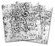 WraptorSkinz Vinyl Craft Cutter Designer 12x12 Sheets Folder Doodles White - 2 Pack