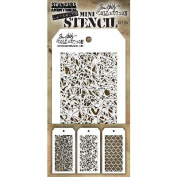 Tim Holtz Mini Layered Stencil Set 3/Pkg-Set #24