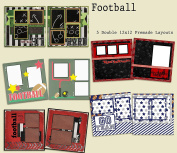 Football Scrapbook Kit - 5 Double Page Layouts