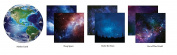 Outer Space - 12x12 Scrapbook Paper Set of 4 by Reminisce