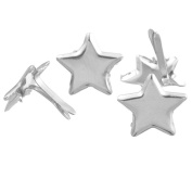 Souarts Star Shaped Mini Brads for DIY Scrapbooking Embellishment Pack of 50pcs