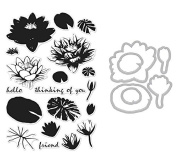 Hero Arts Colour Layering Water Lilies - Stamp and Die Set