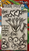 Dare 2B Artzy Totally Tracy - Love Is In The Air - Clear Cling Rubber Stamps