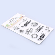 WHOSEE Silicone Transparent Stamp Seal DIY Scrapbooking Album Paper Cards Happy Birthday