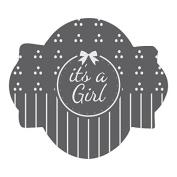It's a Girl Prettier Plaques Julia Usher Cookie Stencil 5 pc set