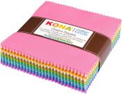 Kona Cotton Pastel 101 Palette Charm Square 101 13cm Squares Charm Pack Robert Kaufman CHS-562-101