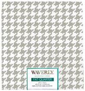 Waverly Inspirations Fat Quarter Houndstooth Grey Fabric