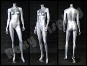 (MD-A3BS--S) ROXYDISPLAY™ Female mannequin headless, with Arms by the side and legs open.