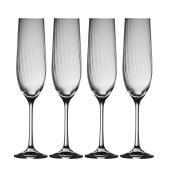 Galway Crystal 32003/4 Erne (Set of 4) Champagne Flutes, Transparent