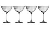 Galway Crystal 32007/4 Erne Saucer Champagne (Set of 4) Martini Glasses, Transparent