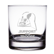 Support The Troops Star Wars Engraved 300ml Rock Glass