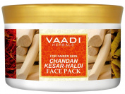 Sandalwood and Saffron Face Pack - Herbal Face Pack - ALL Natural - Sulphate Free - Suitable for All Skin Types - Value Pack of 600 gms (630ml) - Vaadi Herbals