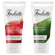 Avocado Hand Cream and Pomegranate Foot Cream set by Frulatte for dry skin