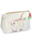 Kitty Cat Kitten Cosmetic Makeup Bag or Pouch Wallet