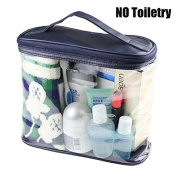 BeeChamp Clear PVC Travel Toiletry Accessories Zipper Bag Transparent Cosmetics Pouch with Handle