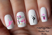 Gymnastics Love Child Nail Art Decals Set of 40 decals