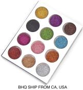 12 colours GLITTER POWDER DUST NAIL ART DECORATION DESIGN