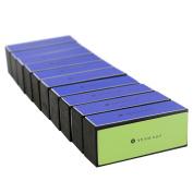 EZGO 10 Pieces 4 Way Shiny Nail Block, 4 Step Nail Buffing Block Shine Nail Buffer, Pedicure & Manicure Nail Buffer for Natural Nail