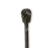 CMS #249 Tungsten Black Steel PEAR Bur Bit 0.2cm Shaft Heavy Duty Acrylic Trimming MADE IN USA Podiatry 41870