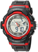 Armitron Sport Men's 20/5228BRD Red Accented Analogue-Digital Chronograph Black Resin Strap Watch