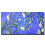 Trademark Fine Art Yellow Tulips by Wendra Canvas Wall Art, 60cm x 120cm