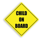 CHILD ON BOARD YELLOW CHILD SAFETY VINYL CAR SIGN