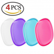 ZesGood 4 Pieces Silicone Makeup Blender Perfect for Applying and Blending Liquid Foundation or BB Creams, 4 Colours