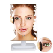 Misaky 10X Magnifie Lighted Makeup Mirror 20 LED Touch Screen Cosmetic Vanity Mirror