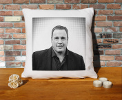 Kevin James Cushion Pillow - Pop Art - 100% Cotton - Available with or without filling pad - 40x40cm (Cover only)