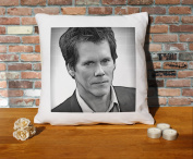 Kevin Bacon Cushion Pillow - Pop Art - 100% Cotton - Available with or without filling pad - 40x40cm (Cover only)