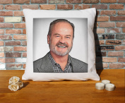 Kelsey Grammer Cushion Pillow - Pop Art - 100% Cotton - Available with or without filling pad - 40x40cm (Cover only)
