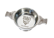 Wentworth Pewter - Lion of Scotland Standard Pewter Whisky Tasting Bowl Loving Cup Burns Night