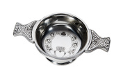 Wentworth Pewter - Small Claddagh Pewter Quaich Whisky Tasting Bowl Loving Cup Burns Night