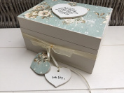 Shabby Chic Style Auntie Aunty Aunt Great Aunty, any name, gift Personalised Trinket Keepsake Jewellery Box