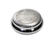 Wentworth Pewter - Kells Celtic inspired Pewter Round Trinket Box, Pill Box, Gift - diameter:85mmH:35mm