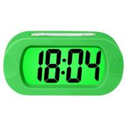 Electronic Digital Alarm Clock,Rosa Schleife Colourful Light Travel Digital Alarm Morning Clock Battery Operated with Repeating Snooze,Large Display,Progressive Alarm,Night Light Home Alarm Clock