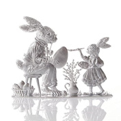 Easter decoration of pewter, Paint Easter Eggs, bright tin