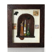 Picture frame collage vinegar and oil